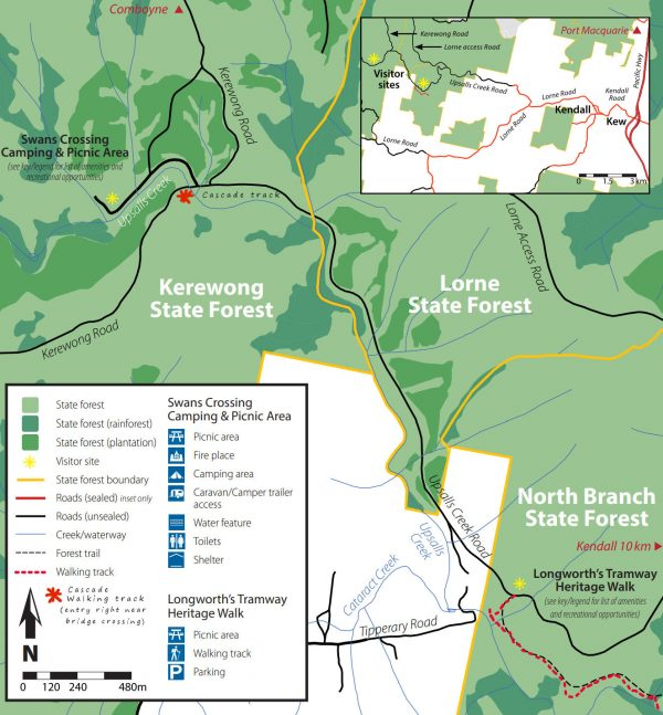 kerewong state forest map