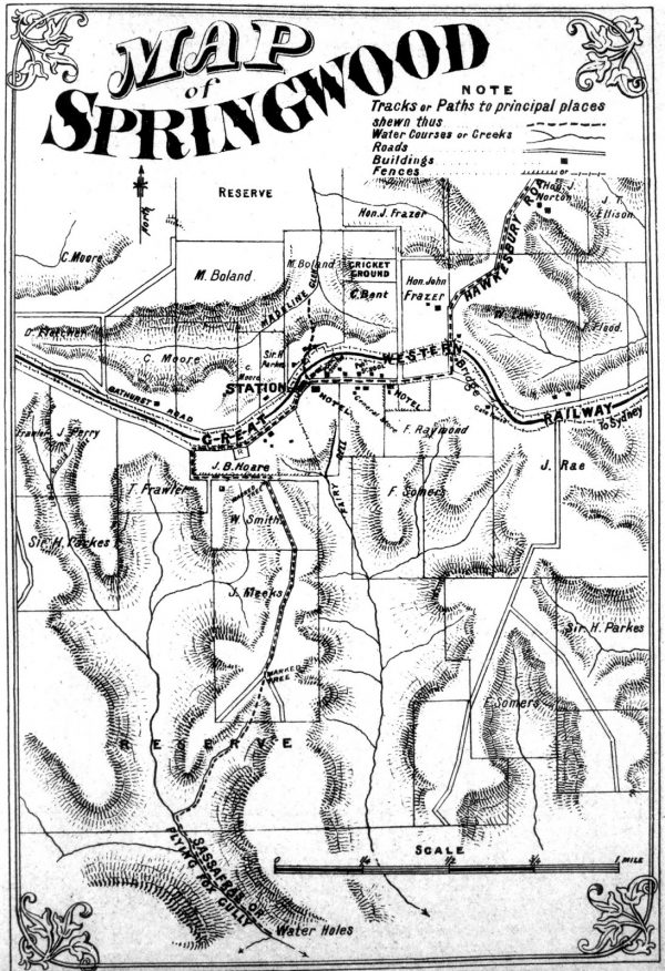 springwood 1882 map